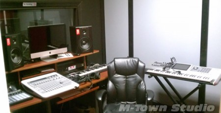 Final view of M-Town Recording Studio control room
