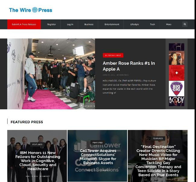 The Wire Press - Press Releases screenshot